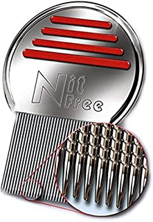 Nit Free Terminator Lice Comb, Professional Stainless Steel Louse and Nit Comb for Head..