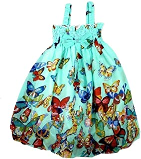 Little Girls Teal Butterfly Chiffon Baby Doll Dress 24M-8
