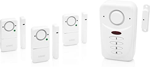 SABRE Wireless Elite Home and Commercial Door Security Alarm with Loud 120 dB Siren and Exit Entry Delays - DIY Easy to In...