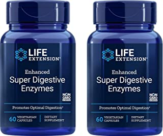 Life Extension Enhanced Super Digestive Enzymes 2-pack (2x60 Vegetarian Capsules)