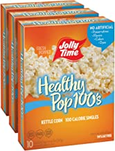 JOLLY TIME Healthy Pop Kettle Corn Mini Bags   100 Calorie Sweet & Salty Microwave Popcorn Single Serving Bags for Portion Control (10-Count Box, Pack of 3)