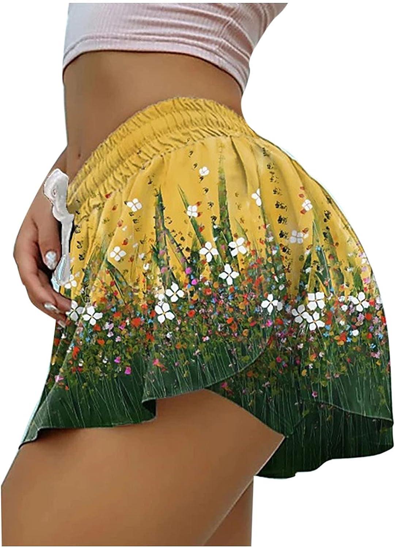 Loose Skorts for Women, 2021 Summer Sexy High Waist Pole Dance Ruffled Shorts Hot Pants Mini Tight Bikini Tennis Skorts