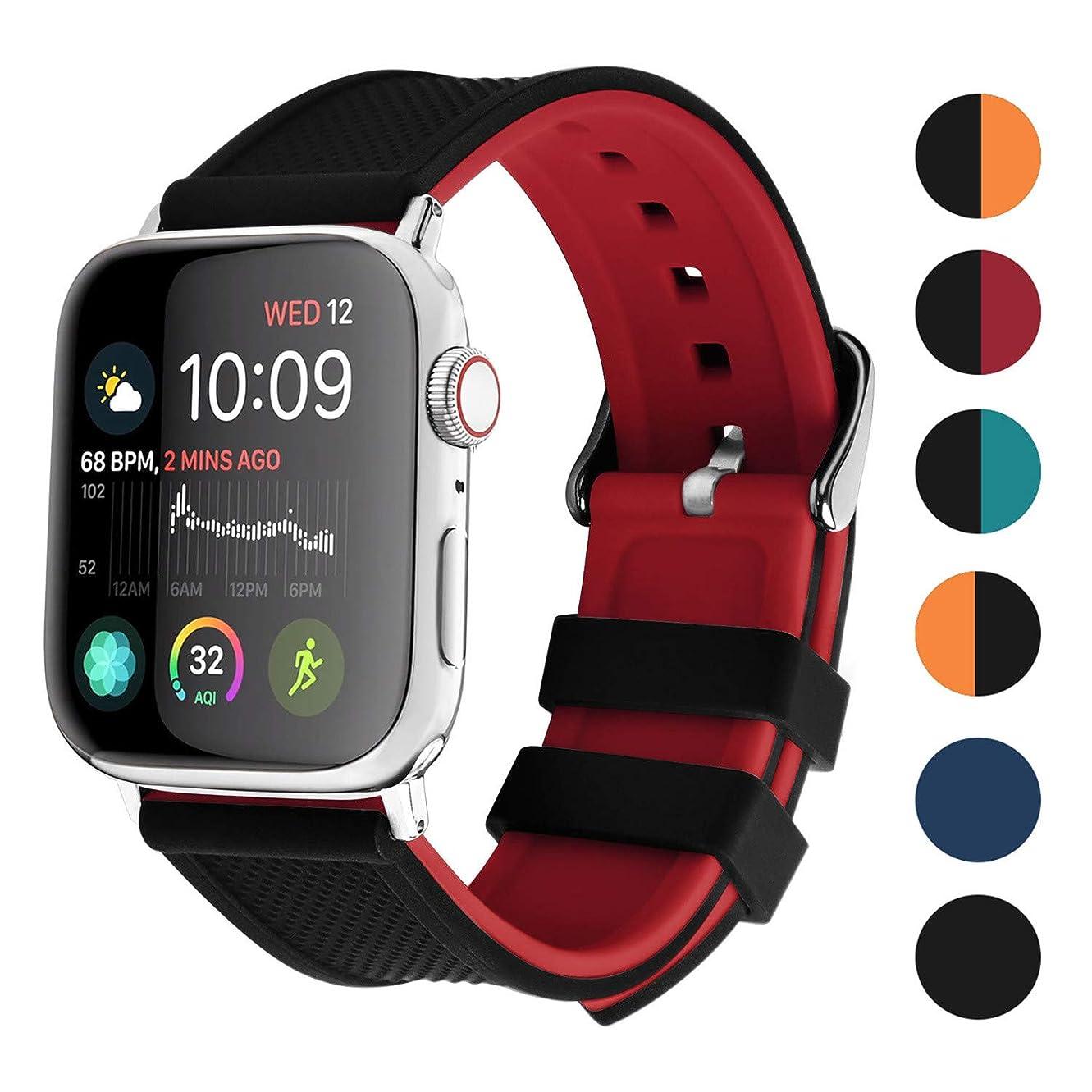 展示会大使偶然Apple Watch 4/5 バンド40mm 44mm,Fullmosa 全6色アップルウォッチ4/5バンド iWatch Series 4/5対応 シリコン製 40mm 55mm