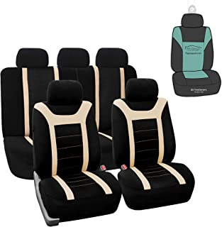 FH Group FB070115 Sports Seat Covers (Beige) Full Set with Gift - Universal for Cars Trucks and SUVs