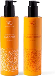Sponsored Ad - Vicious Curl Foaming Curl Cleanse and Moisture Surge Conditioner Kit – Clarifying Shampoo and Deep Conditio...