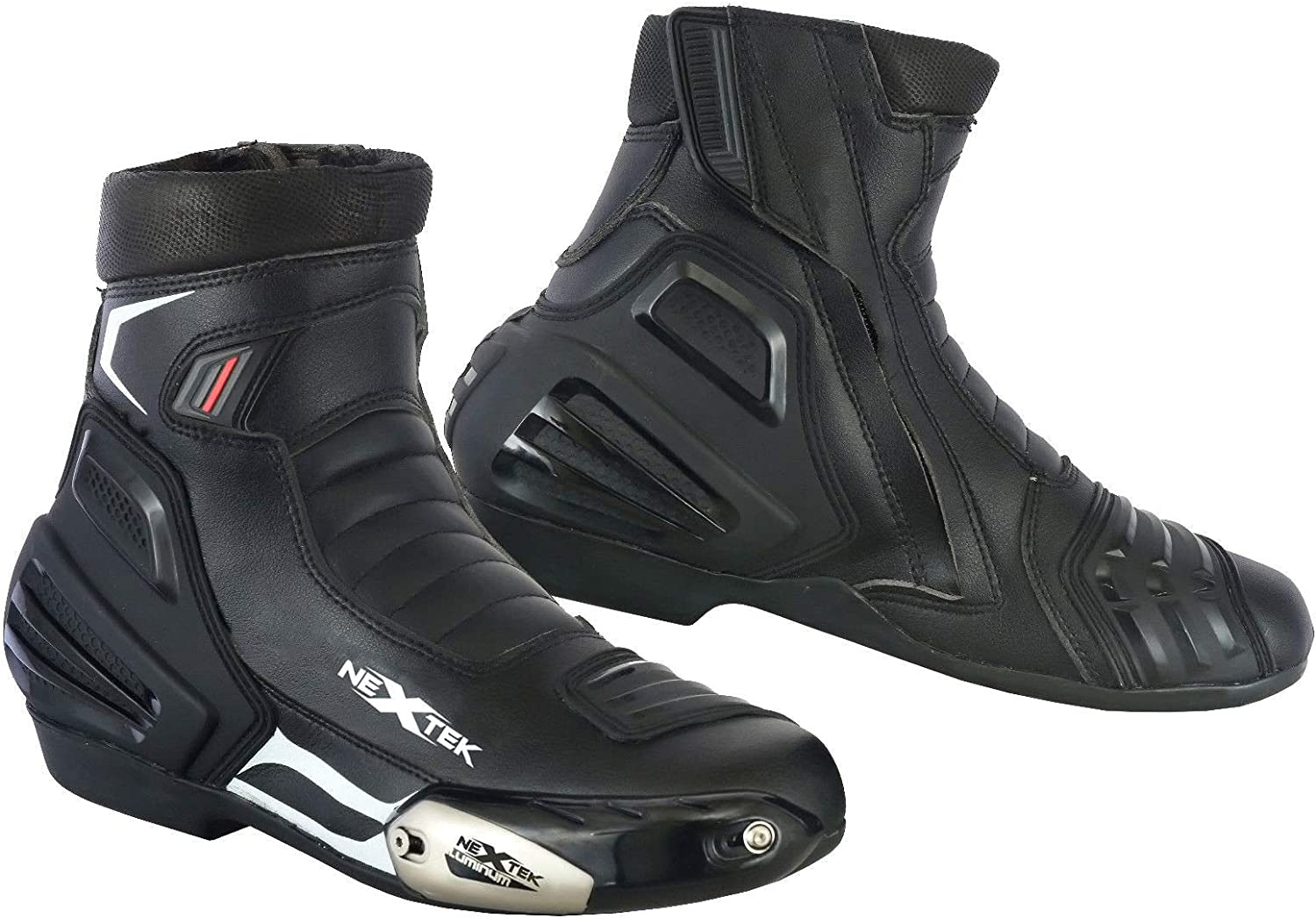 EU 38 PROFIRST Pure Leather Motorbike Boots Motorcycle Armoured Long High Ankle Shoes Crash Protection Protective Comfortable Racing White /& Black UK 4