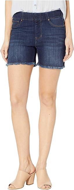 Chloe Pull-On Shorts w/ Frayed Hem