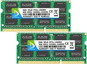 DDR3 RAM 16GB, DDR3 1333, PC3-10600, DUOMEIQI DDR3 16GB Kit (2X8GB) PC3L-10600S 8GB DDR3L-1333 sodimm 2Rx8 1.35v CL11 Notebook RAM Memory for Laptop Computer