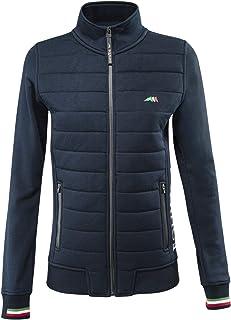 Eplus Mens Blue Grey Stars Full-Zip Hoodie Jacket with Pocket