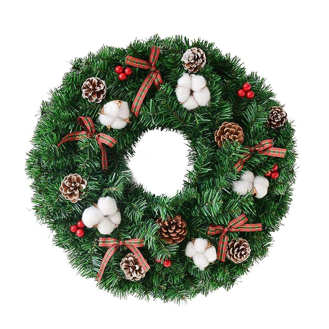 コンテスト喜ぶ実際に利用シーンレイアウトクリスマスの飾り、4つのサイズをぶら下げクリスマスリースガーデンスタイルDIYのラタンホテルのドア (Color : A, Size : 50cm)