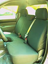 Durafit Seat Covers Made to fit -2009-2014 Tacoma Bench Seat, with Side airbags in Seats. Adjustable 3 headrests Gray Twill.