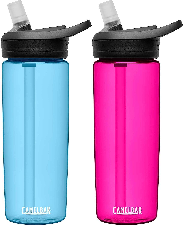 CamelBak eddy+ Popularity BPA Free Outlet SALE Water Bottle oz 20 2-Pack True Blue
