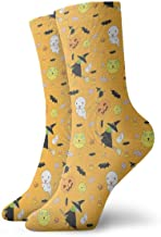 iuitt7rtree Happy Halloween Family Tobillo Calcetines Casual Divertido Para Sports Boot Senderismo Running Etc. socks6741