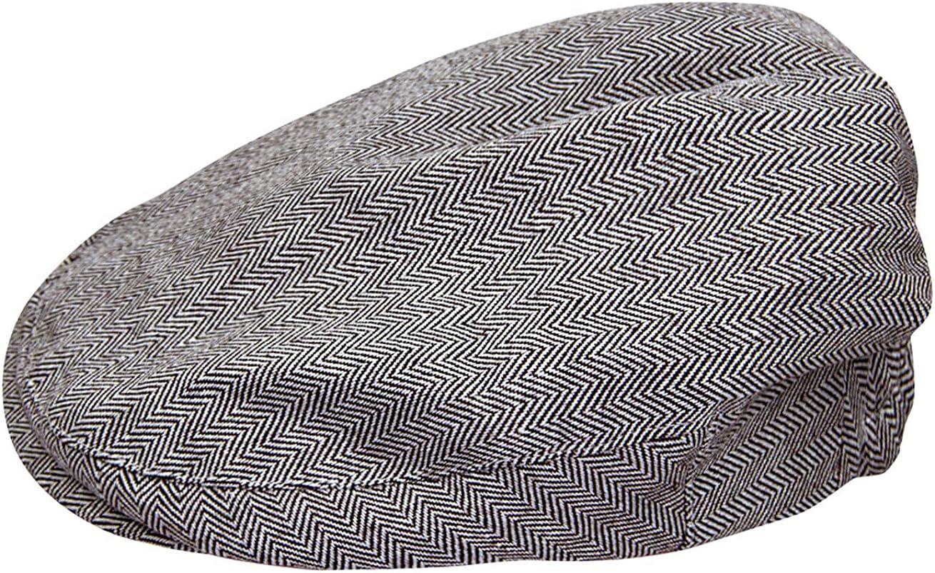 mintgreen Baby Fischgr/ätenmuster Flache Kappe Vintage Fahrerhut mit Futter,Dick und Weich Alter 0-5 Jahre