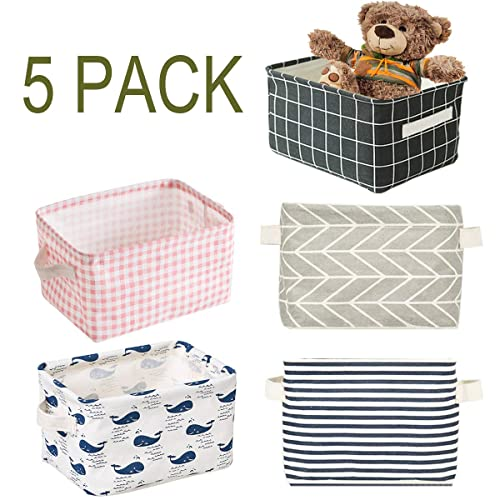 Natural Large Rectangle Basics Fabric Storage Bin