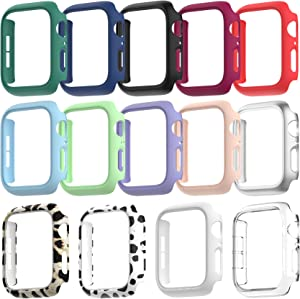 Drztope 14 Pack Compatible for Apple Watch 38mm Case Series 3 2 1, Hard PC Bumper Protective Cover Frame Compatible for iWatch 38mm Accessories (14 Colors)