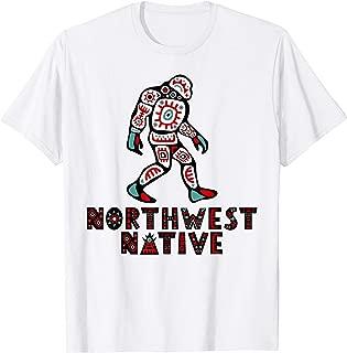 Pacific Northwest Native American Style Art Shirt Sasquatch