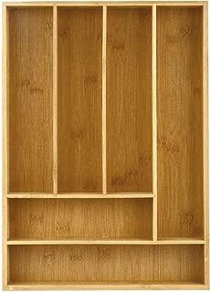 Heim Concept Drawer Organizer Bamboo Cutlery Tray Silverware Organizer/Utensil Holder