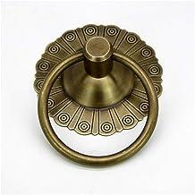 Knockers, antieke klopper Archaize stijl pure koperen ring klopper brons deurhandvat trek antiek decoratief (kleur: paars)