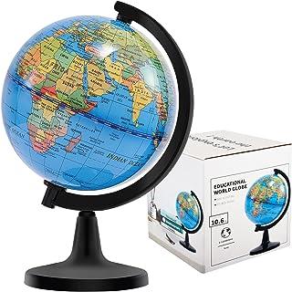 "Wizdar 4 ""Globes World for Kids، Educational Map Globe Earth Decorative Globe Earth برای کلاس درس جغرافیا ، میز"