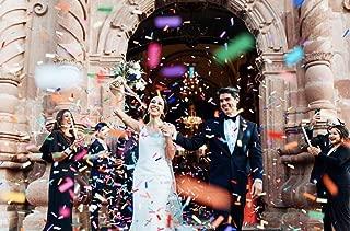 Battife Confetti Wands 7Pack Colorful Biodegradable Tissue Paper Confetti Flick Flutter Sticks for Wedding Celebrations, Anniversary, Birthday, Multi-Color, 14 inch