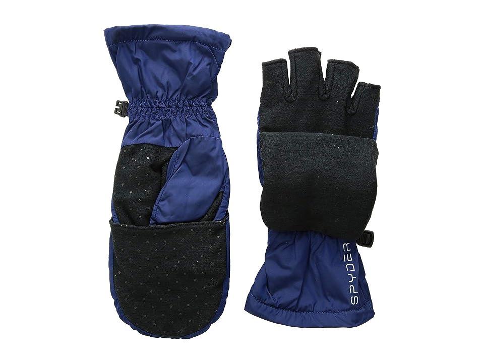 Spyder Solitude Convertible Mitten (Blue Depths/Black) Extreme Cold Weather Gloves