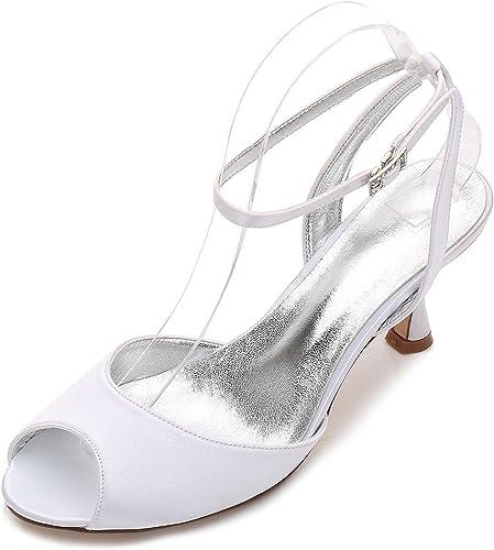L@YC femmes Wedding E17061-18 Sandales Peep Toe Toe Les Les dames Faible Talon Bridal Strappy Parti Chaussures Taille  meilleurs prix et styles les plus frais