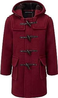 Kids Classic Duffle Coat (Toggle Coat) in Burgundy