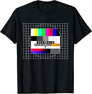 Testbild 90er Party 80er Jahre Outfit TV Kostüm Mottoparty T-Shirt