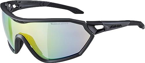 Alpina S-Way VLM outdoorsportbril, mat zwart, één maat
