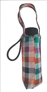 "Totes Micro Mini Manual Compact Umbrella, NeverWet technology, Bright Colorful Square, 38"" arc Coverage"