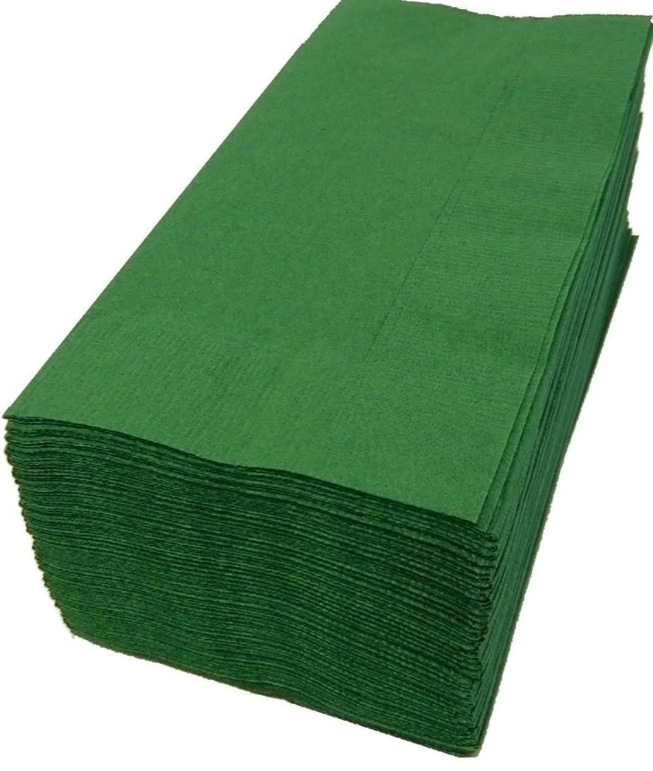 ハム試みキロメートル8折カラー8折2プライペーパーナプキン「イタリアングリーン」(50枚)