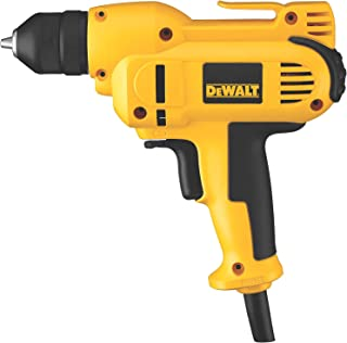 DEWALT Corded Drill, 8.0-Amp, 3/8-Inch, Variable Speed Reversible, Mid-Handle Grip (DWD115K )
