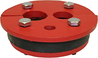Merrill MFG WS622510 Cast Iron Well Series, Double Drop Pipe, Split Top Plate, 6
