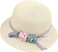 Sombrero para el Sol Ni/ña Sombrero de Paja Encaje Princesa Vacaciones Sombrero de Pesca Protecci/ón UV Plegable Beb/é Ni/ños Gorro Primavera Verano Playa Dulce y Encantador 46//54cm