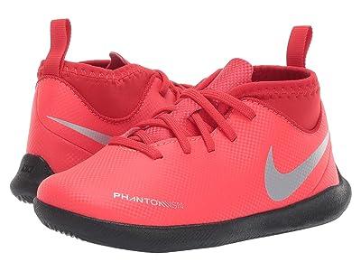 Nike Kids Jr. Phantom Vision Club DF IC Soccer (Toddler/Little Kid/Big Kid) (Bright Crimson/Metallic Silver) Kids Shoes