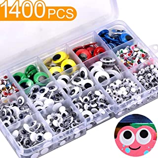 ab64c53a9d722 1400Pcs Googly Wiggle Eyes with Self-Adhesive in Portable Plastic Box