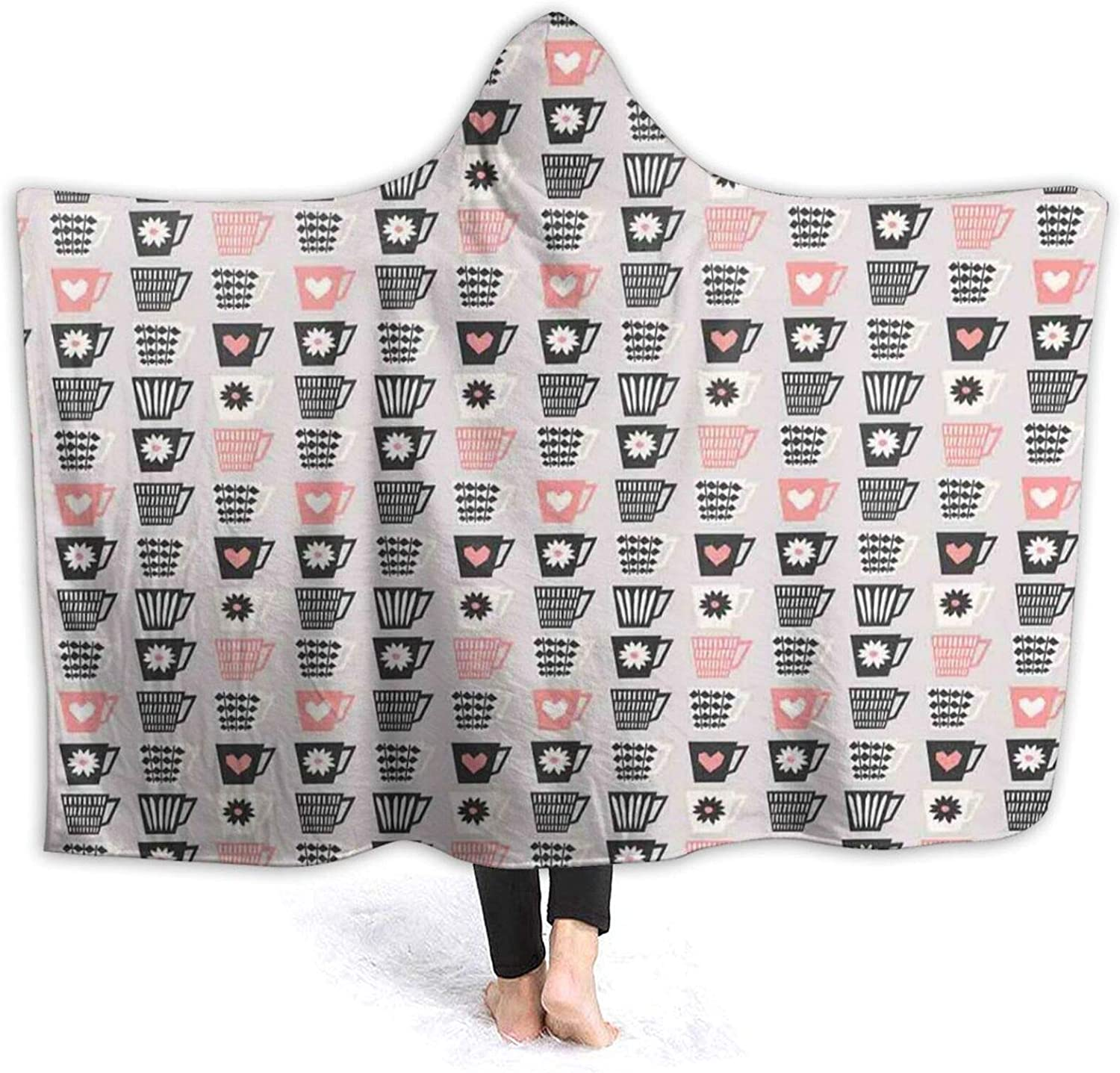 Hooded Blanket Max 61% OFF Anti-Pilling Flannel Mid with Style Cups Century Ranking TOP12