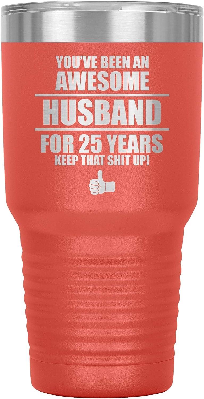 25th Wedding ●スーパーSALE● セール期間限定 Anniversary 宅配便送料無料 Tumbler Travel Coffee 25 Mug Twenty Cup