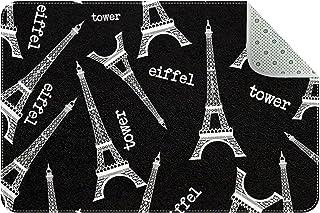 Doormat Custom Indoor Welcome Door Mat, Eiffel Tower Home Decorative Entry Rug Garden/Kitchen/Bedroom Mat Non-Slip Rubber ...