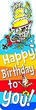 Eureka Back to School Dr. Seuss Happy Birthday Bookmarks for Kids, 36pc, 2'' W x 6'' H