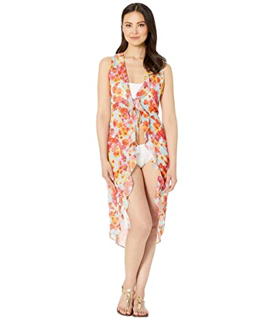 Kenneth Cole In The Garden Front Tie Duster Cover-Up (Multicolor) Women
