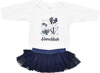 Unique Baby Girls Jewish My 1st Hanukkah Tutu Skirt Layette Set