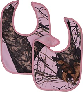 Mossy Oak Pink Camo Baby Bibs 2-Pack One Size Fits Most Babies 3M - 2T