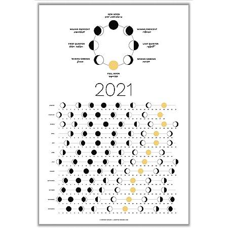 Lunar Calendar October 2022.Amazon Com Moon Calendar 2021 Lunar Phases Moonlight Office Products