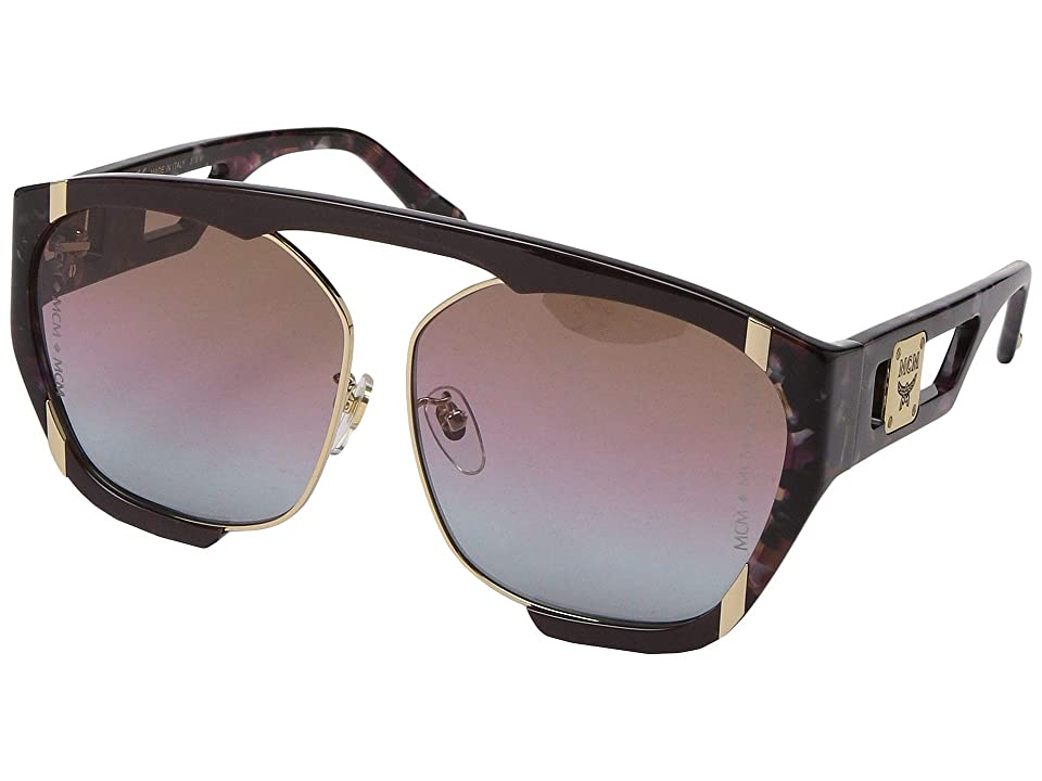 MCM MCM672SAL (Wine/Marble Wine/Dark Grey Violet Blue Gradient) Fashion Sunglasses