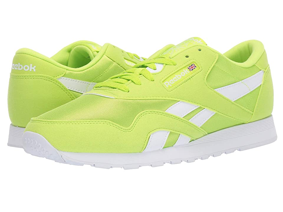 Reebok Lifestyle Classic Nylon Color (Neon Lime/White) Men