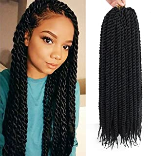 Dingxiu (6 Packs,22 inch) Havana Mambo Twist Crochet Hair Braids Senegalese Twist Crochet Braiding Hair (22