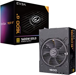 EVGA SuperNOVA 1600 G+, 80+ GOLD 1600W, Fully Modular, 10 Year Warranty, Includes FREE Power On Self r, Power Supply 220-G...