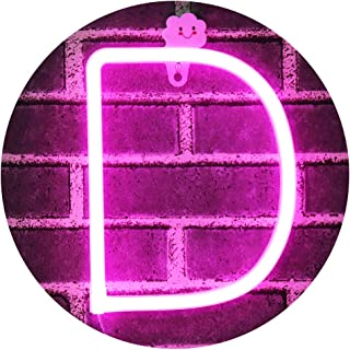 Obrecis Light Up Letters Neon Signs, Pink Marquee Letters Lights Wall Decor for Christmas, Birthday Party, Bar Valentine's Day Words-Pink Letters